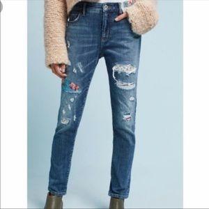 Anthropologie Pilcro Slim Boyfriend Jeans 25